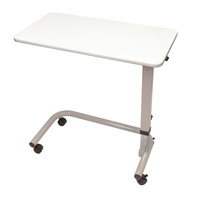 Aspire Overbed Table - Laminate  Flat Top - White