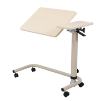 Aspire Overbed Table - Split Top Tilt Thermoform - Cream