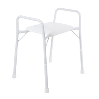 Shower Stool with Arms - Wide - Treated Steel