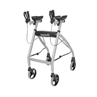 Freedom Forearm Walker W/ Handbrakes - 4 Swivel Casters - 220 kg