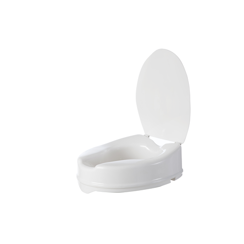 Aspire Toilet Seat Raiser with Lid - 50mm