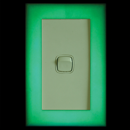 Dementia Care Glowing surround frame for light switches - standard size